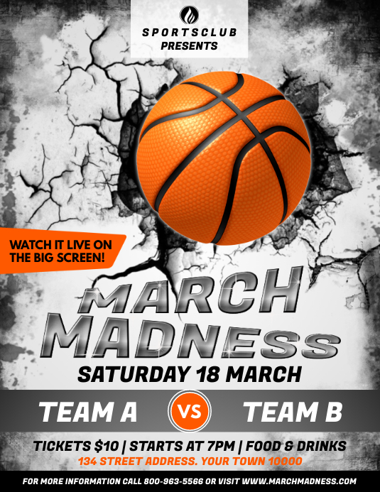 March Madness Flyer (format US Letter) template