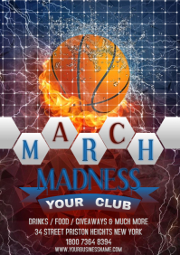 MARCH MADNESS A4 template