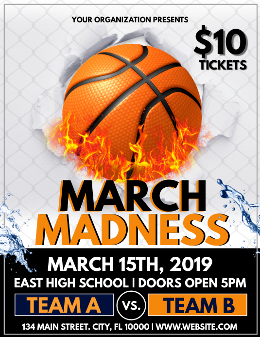 March Madness Flyer (US-Letter) template