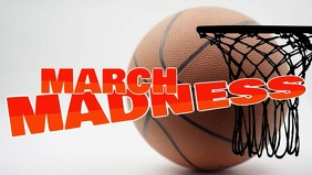 March Madness Facebook Cover Video (16:9) template