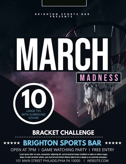March Madness Løbeseddel (US Letter) template