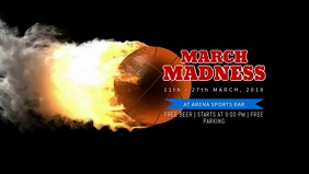 March Madness Event Facebook Cover Video Template