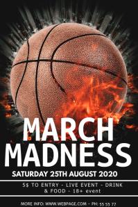 March madness event flyer template โปสเตอร์