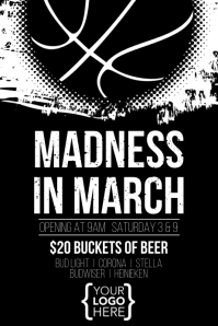 March Madness Event Poster Template Cartaz