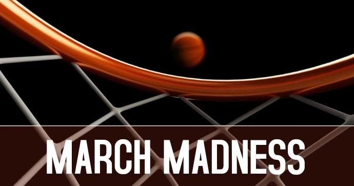 MARCH MADNESS FACEBOOK delt Facebook-billede template