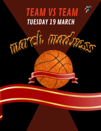 MARCH MADNESS FLYER,BASKETBALL FLYER,EVENT FLYER