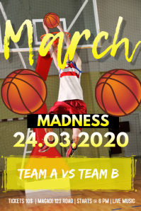 MARCH MADNESS FLYER 2020 Spanduk 4' × 6' template