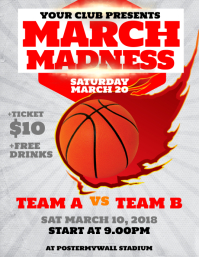 Basketball. March Madness Flyer Template