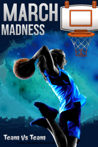 March Madness Template Poster