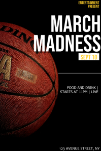 March madness game flyer template