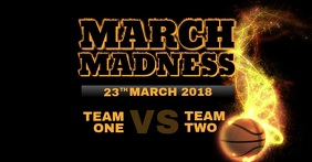 March Madness Match Event Video Flyer Template for Facebook