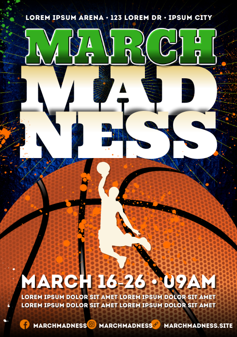 MARCH MADNESS POSTER A4 template
