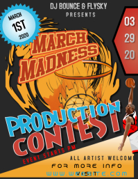 MARCH MADNESS POSTER FLYER TEMPLATE
