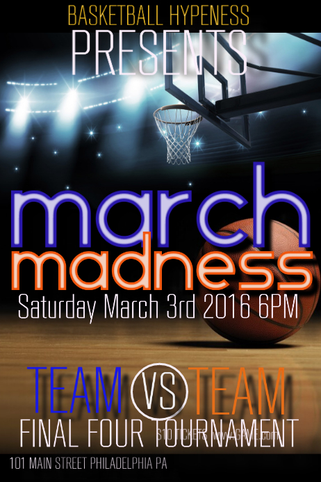 March Madness Plakat template