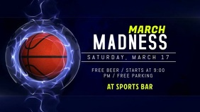 March Madness Promo Facebook Cover Video Template