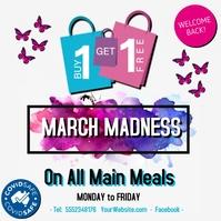 March Madness Sale โพสต์บน Instagram template