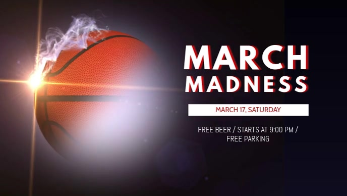 March Madness Screening Facebook Cover Video Template