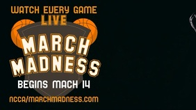 March Madness Screening Promo Video Template Display digitale (16:9)