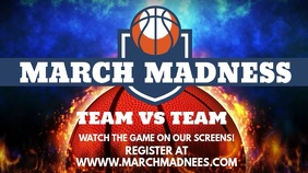 March Madness Screening Video Template Display digitale (16:9)