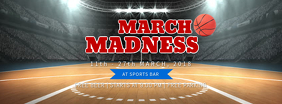 March Madness Sports Bar Facebook Cover Image Template