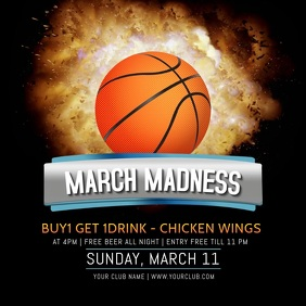 March Madness Sports Bar Video Template