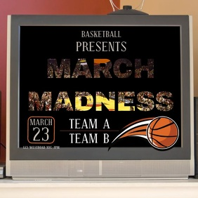 MARCH MADNESS TEMPLATE DIGITAL FLYER VIDEO