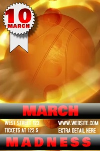MARCH MADNESS TEMPLATE DIGITAL FLYER VIDEO Poster