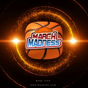 MARCH MADNESS TEMPLATE DIGITAL FLYER VIDEO Instagram Post