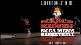 March Madness Tournament Screening Video Template Display digitale (16:9)