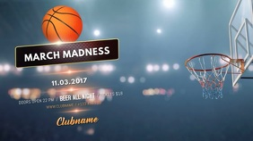March Madness TV Video Template Digital na Display (16:9)