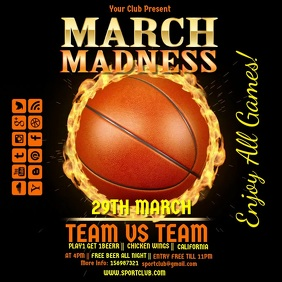 basketball camp flyer template basketball march madness video4
