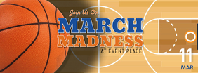 March Madness Watch Party Facebook Cover Image Template