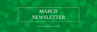 March Newsletter email banner template