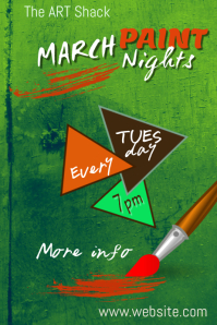 March Paint Nights Poster