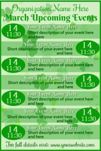 March Shamrock Video Upcoming Events Plakkaat template