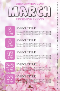 March Upcoming Event Flyer Poster template