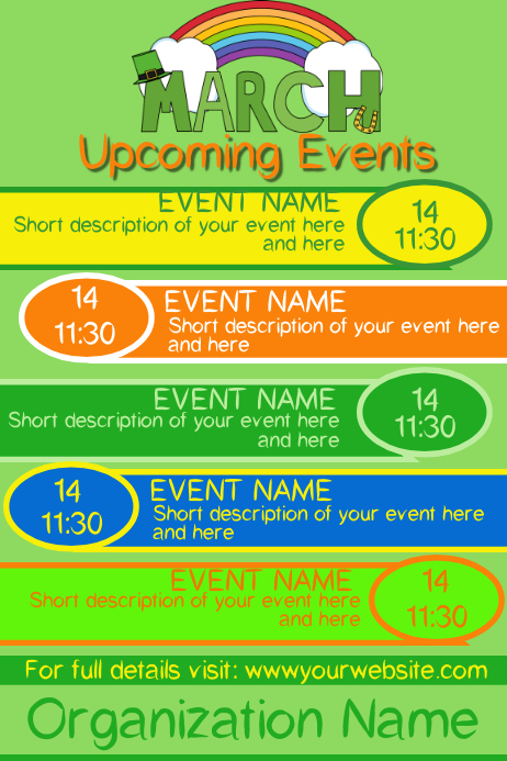 March Upcoming Events 2