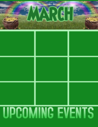 March Upcoming Events Calendar Flyer (US Letter) template
