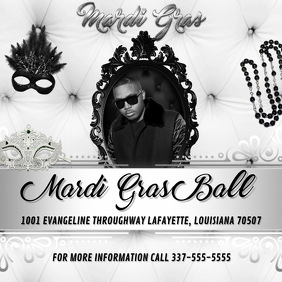 MARDI GRAS BALL FLYER TEMPLATE