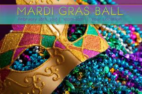 Mardi Gras Ball Masquerade Mask Fat Tuesday Rainbow