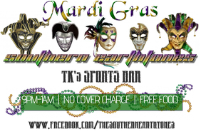Mardi Gras Band Bar Flyer