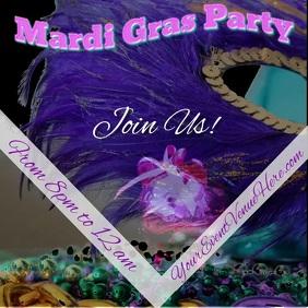 Mardi Gras/Carnival Event Square (1:1) template