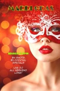 mardi gras carnival flyer poster
