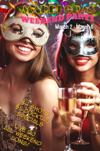 mardi gras carnival flyer poster template