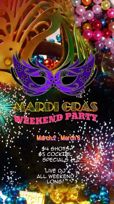 mardi gras carnival flyer poster Digital Video