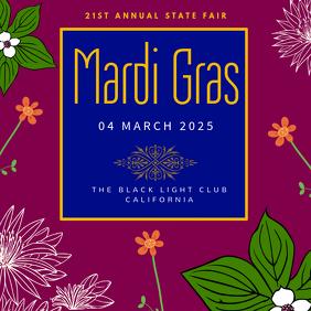 Mardi Gras Carnival Instagarm Template