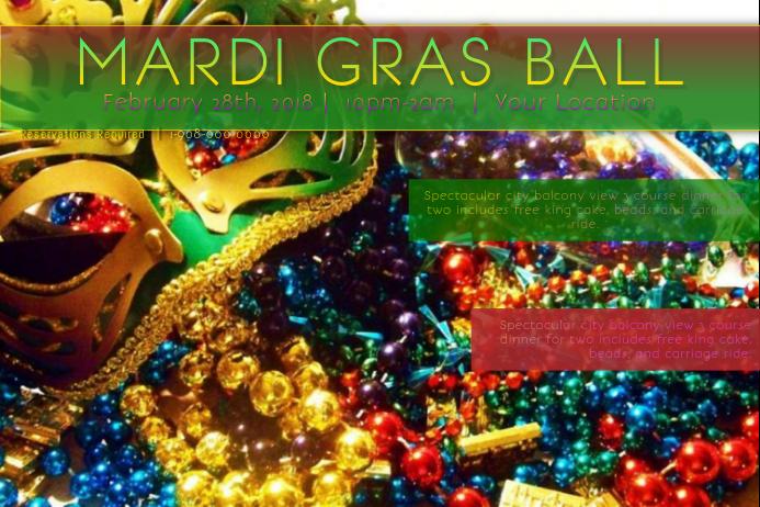 Mardi Gras Carnival Mask Green Gold Parade Ball Fat Tuesday