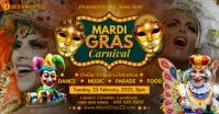Mardi Gras Carnival Online 2021 Template Facebook Shared Image