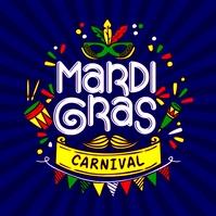 Mardi Gras Carnival Poster 徽标 template