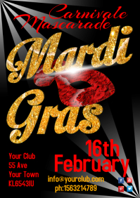 Mardi Gras Carnivale Poster